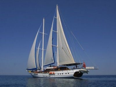 A large capacity of Turkish Gullet Aegean Clipper