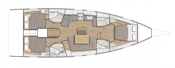 Oceanis 46.1 План яхты