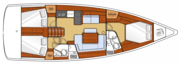 Oceanis 45 (port Marmaris) Layout