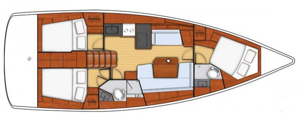 Oceanis 41.1 (port Gocek) Layout