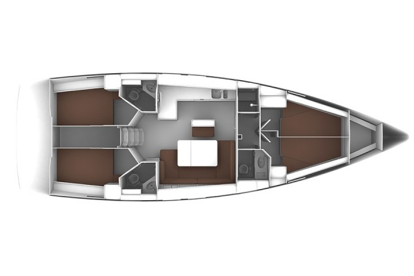 Bavaria Cruiser 46 (port Gocek) Layout