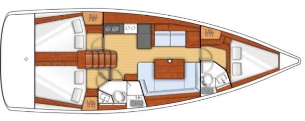 Oceanis 41 - 2015 (puerto Gocek) Layout