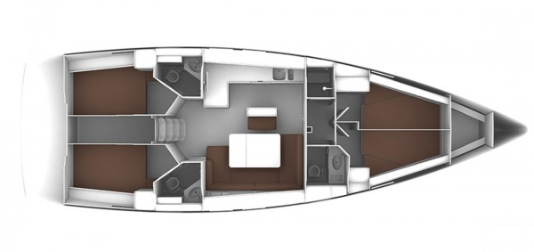 Bavaria 46 Cruiser - 2020 (puerto Gocek) Layout