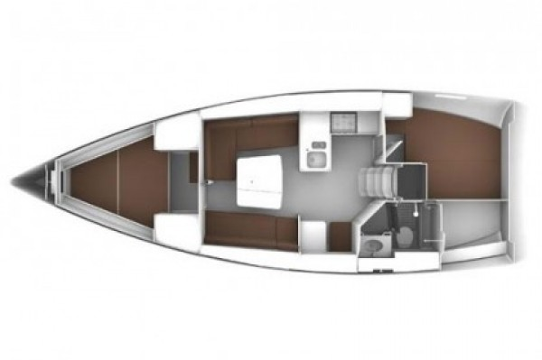 Bavaria 37 Cruiser (porto Gocek) Layout