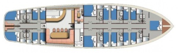 Goélette AEGEAN CLIPPER Layout