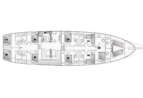 KUBILAY SEZEN План яхты
