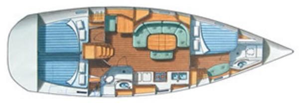 Oceanis 38.1 План яхты