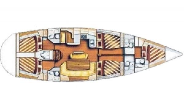 Bavaria 51 Cruiser (puerto Gocek) Layout