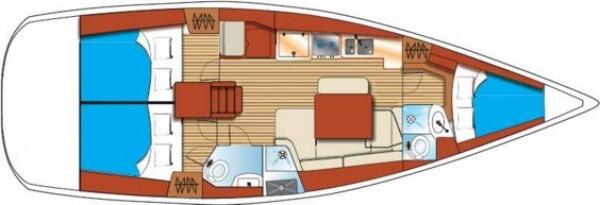 Oceanis 41 (Liman Gocek) Yat Planı