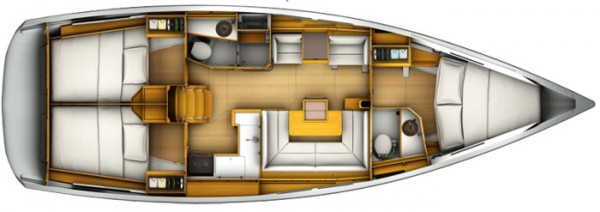 Sun Odyssey 409 (port Gocek) Layout