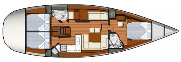 Sun Odyssey 50 DS (port Gocek) Layout